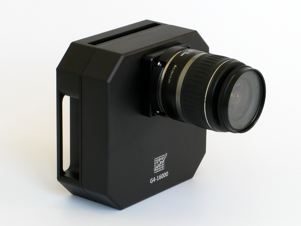 Kamera G4-16000 sobjektivem standardu Canon EOS